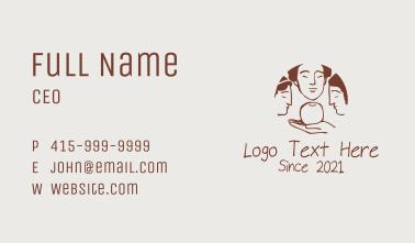 Greek Goddess Women Business Card