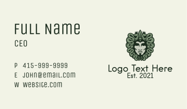 Green Medusa Avatar  Business Card