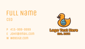 Water Duckling Toy Business Card