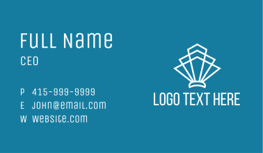 Geometric White Shell Business Card