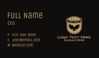 Patriotic Eagle Emblem  Business Card