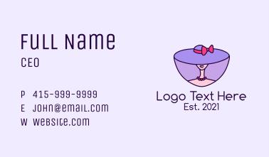 Woman Stylist Hat  Business Card