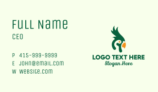 Star Cockatoo Bird Business Card