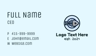 Fishbone Plate Business Card