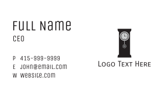 Camera Chronometer Business Card