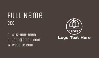 Minimalist Industrial Light Business Card