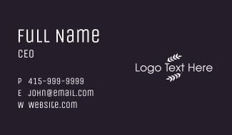 White Leaf Wordmark Business Card