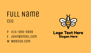 Monoline Bee Insect Business Card