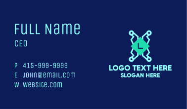 Tech Lettermark Business Card