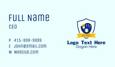 Baseball Catcher Emblem Business Card