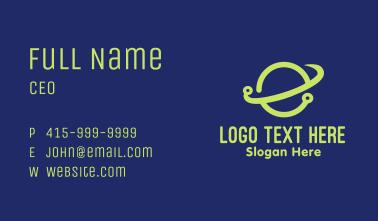 Green Planet Orbit Business Card
