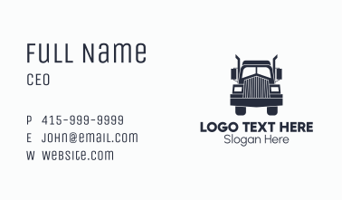 Armored Trailer Truck Business Card