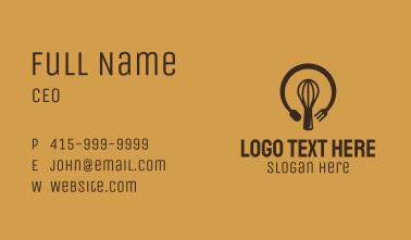 Bakeshop Lightbulb Idea Business Card