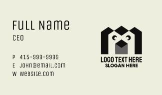 Geometric Penguin Business Card