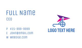 Blue Purple Glider Business Card
