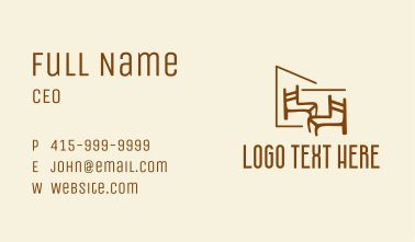Chair Furniture Woodwork  Business Card
