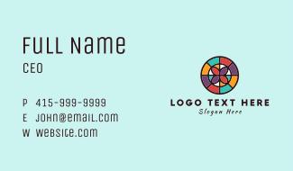 Flower Mosaic Badge Business Card