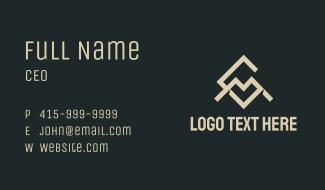 Geometric Letter C & M Business Card