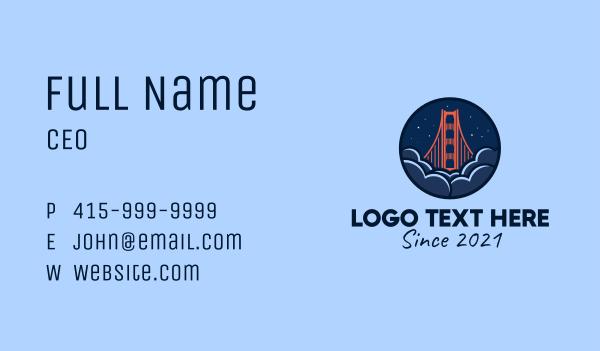 golden gate bridge - Golden Gate Bridge San Francisco Business card horizontal design