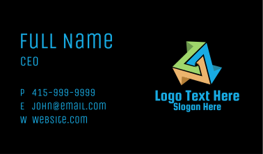 Isometric Tech Prism  Business Card