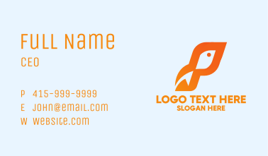 Abstract Orange Fish  Business Card