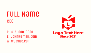 Red Apple Book Business Card