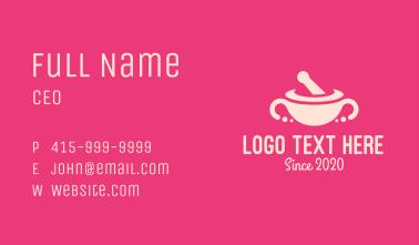 Pink Mortar & Pestle Business Card