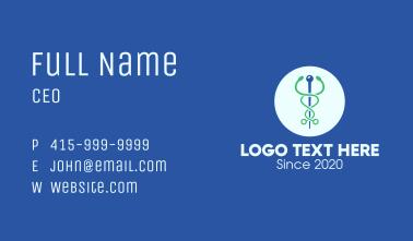 Medical Stethoscope Caduceus Business Card