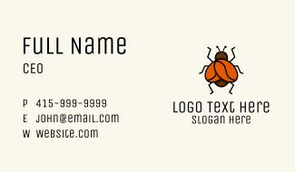 Coffee Bean Bug Business Card