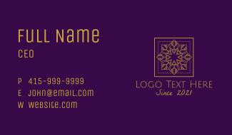 Elegant Star Frame Business Card