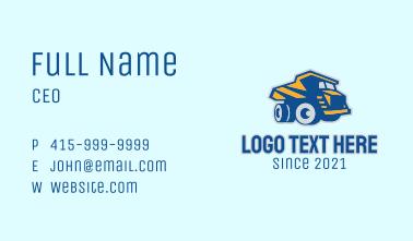 Construction Dump Truck  Business Card