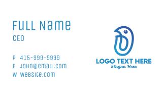 Minimalist Blue Bird Business Card