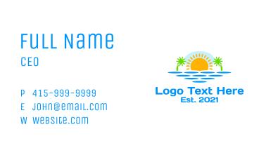 Paradise Island Sunset Business Card