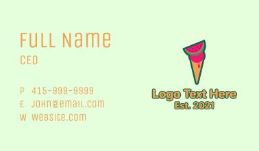 Watermelon Ice Cream  Business Card