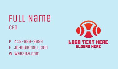 Letter H Headphones  Business Card