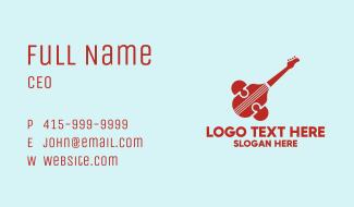 Modern Guitar Symbol Business Card