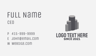 Industrial Metal Pipes  Business Card
