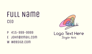 Colorful Butterfly Mosaic Business Card