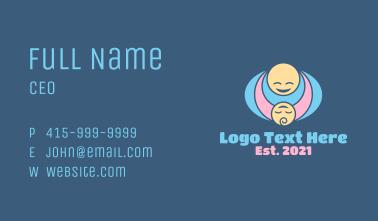Mother & Child Hug Business Card