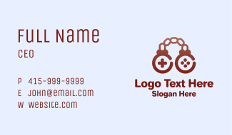 Brown Chain Controller Business Card