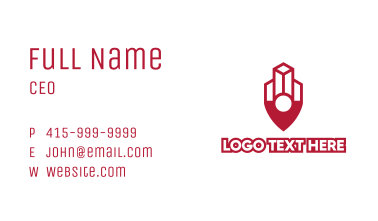 Building Outline Pin Business Card