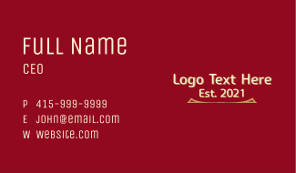 Law Firm Wordmark Business Card