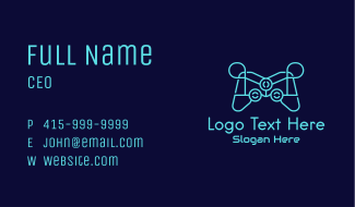 Blue Game Console Tech Business Card