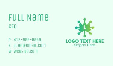 Organic Virus Lettermark Business Card