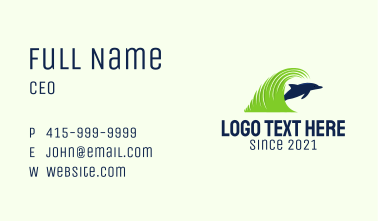 Dolphin Lawn Care  Business Card