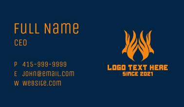 Orange Phoenix Flame  Business Card