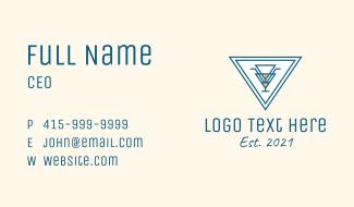 Triangle Bar Sign Business Card