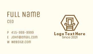 Wooden Armchair Furniture Business Card