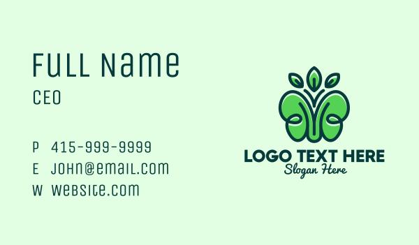butterfly - Organic Green Butterfly Business card horizontal design