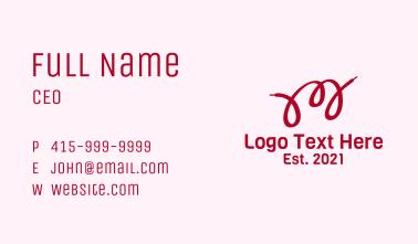 Letter M Shoelace  Business Card